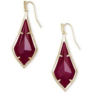 Kendra Scott – Olivia Drop Earrings Maroon Jade